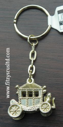 LONDON ROYAL CORONATION CARRIAGE METAL KEYRING ENGLAND UK GB KEY RING GIFT